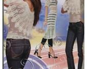 CROCHET patterns floral women's girls lace dress top skirt cardigan Magazine Duplet 87