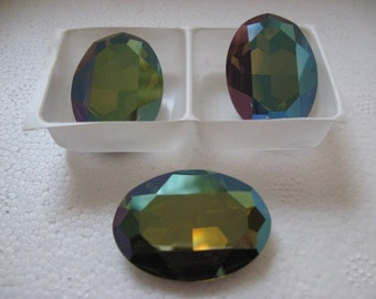 Swarovski Crystal Large Faceted Oval