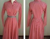 Vintage DKNY 50s inspired Lady Sailor Shirt dress