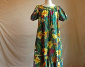 Vintage Tropical Lounging Dress