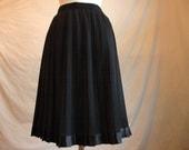 Vintage Pleated Tuxedo Skirt