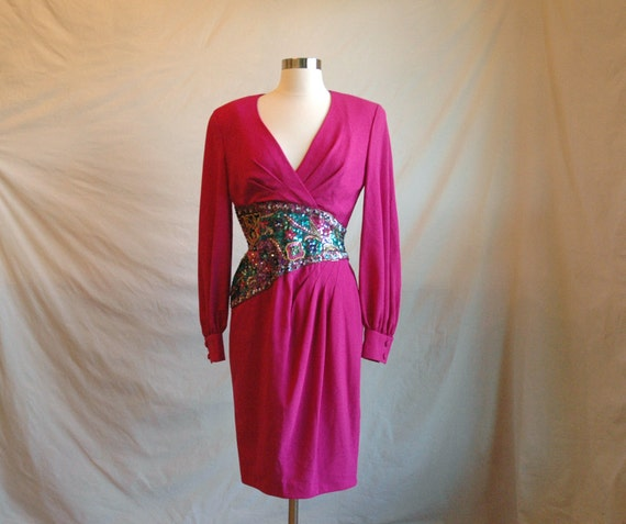 RESERVED for NATALEA Vintage 80s Night Out dress