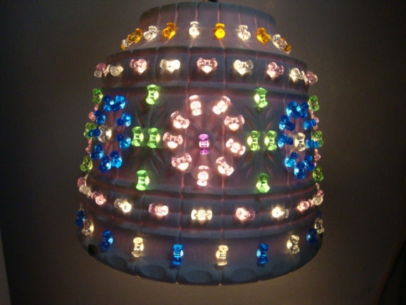 Kitschy Plastic Flower Pot Hanging Lamp By Melmacparadise