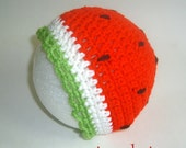 Strawberry Watermelon Hat  Circumference 18 inches Halloween Costume Girl Outfit