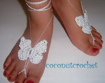 Girl's Silver Barefoot Sandals       One Size Fits 3 to 10 Years