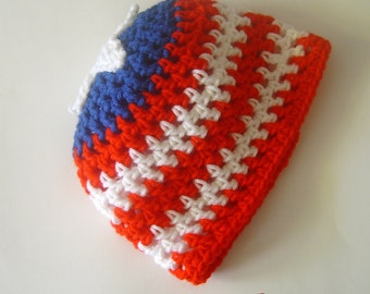 Child Patriotic Beanie Hat Puerto Rico Baseball(Circumference 20 inches)