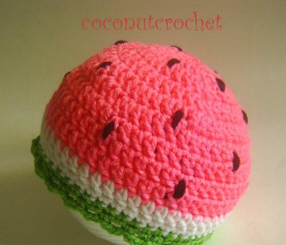 Pink Watermelon Hat    Size: 6 months