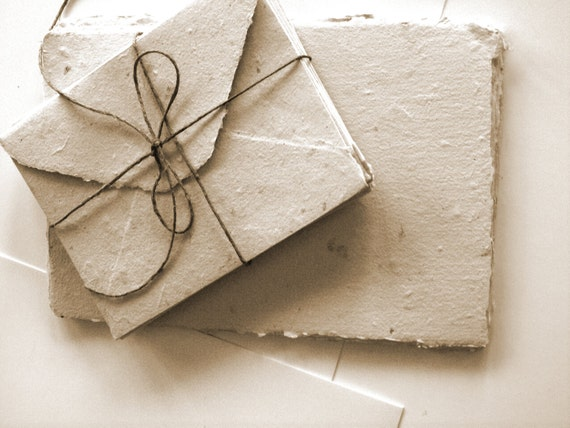 Handmade Paper cards and Envelopes set of 10 by qesther on ...
