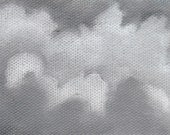 ACEO original oil painting of storm clouds