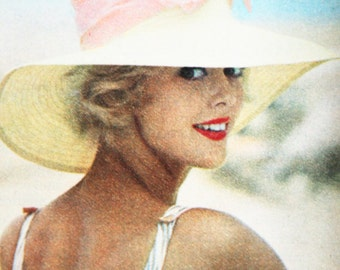 1959 French Cover Girl Print - Paris MATCH