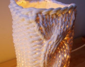 Two knitted lampshades for Ikea Grono - cream (off white)