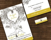 Personalized Oak Tree Wedding Invitation - Sample Packet