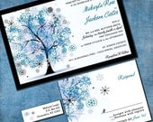 Wedding Invitation - Winter Snowflake Tree - Sample Packet - Winter Wonderland - InvitingMoments