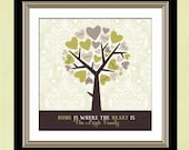 Personalized Gift for Mom, Mother's Day Gift for Grandma, Custom Gift for Grandparents, Family Tree, Heart Tree