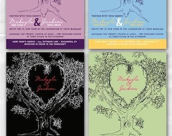 Personalized Oak Tree Wedding Invitation - Sample Packet