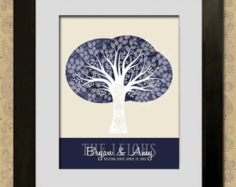 Wedding Guest Book Fingerprint Tree - Custom Paisley Tree - Custom PDF - DIY Wedding - Print it Yourself