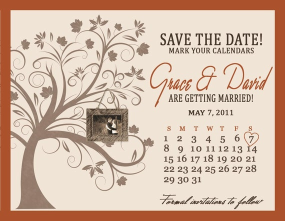Rich Autumn Custom Save the Date Magnet