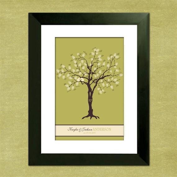"Sweet Birdies 12"" x 18"" Wedding Tree - With 5 x 7 Instructions"