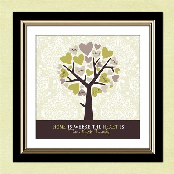 Personalized gift for mom mother 39 s day gift for by for Family tree gifts personalized