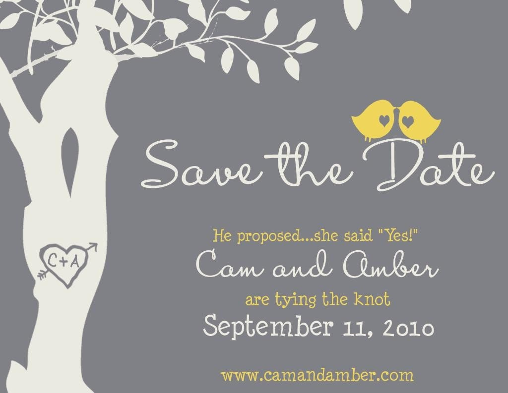 Save The Date Magnet Custom Love Birdies Save The Date