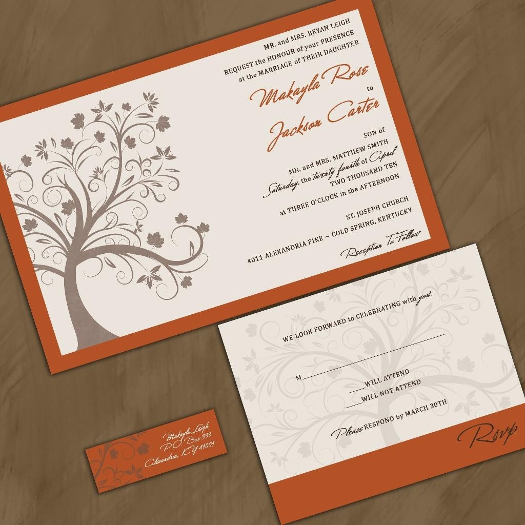 Modern Fall Maple Tree Wedding Invitation Sample Packet