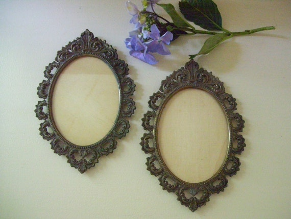 Vintage Elegant Metal Picture Frames Made In Italy