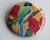 Bird Pin- Featuring original painting of green jay