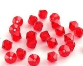 50 pieces 4mm Bicone Swarovski Crystals Red beads
