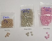 last bag of 50 Perfect glass pearls 4MM .... your color beige ... Beige is the only color left