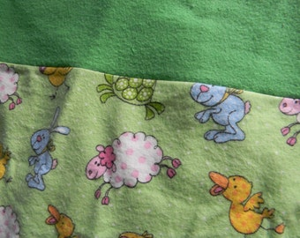 Flannel Standard Sized Animal Pillowcase