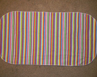 Multi Colored Striped Burp Cloth