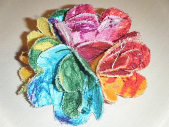 Hippie Tye Dye Flower Clip