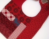 RESERVED SALE Red patchwork Bib