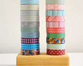 Washi Tape Organizer - Wood Masking Tape Holder - Eco friendly Wood Japanese Tape Dispenser for 20 rolls