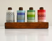 Dark Washi Tape Organizer - Wood Masking Tape Holder - Eco friendly Japanese Tape Dispenser for 20 rolls