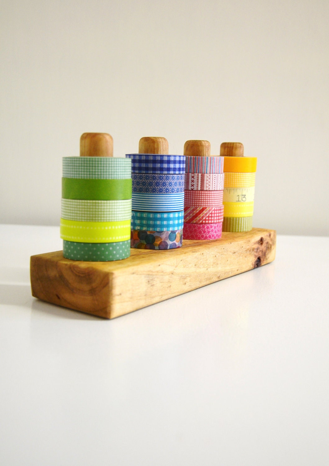 tinted washi tape organizer wood masking tape by 464handmade. Black Bedroom Furniture Sets. Home Design Ideas