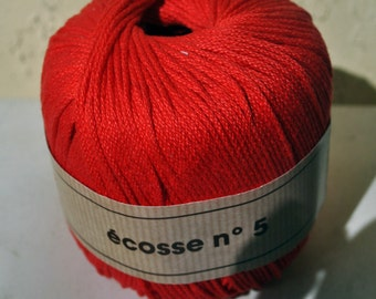 Red Cotton Yarn by Berger Du Nord