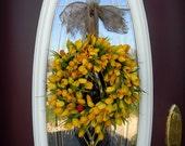 "Spring Summer Grapevine Door Tulips Wreath Decor..""Open-Minded"""