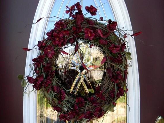 Merlot Ambiance..Door Deco Grapevine Wreath
