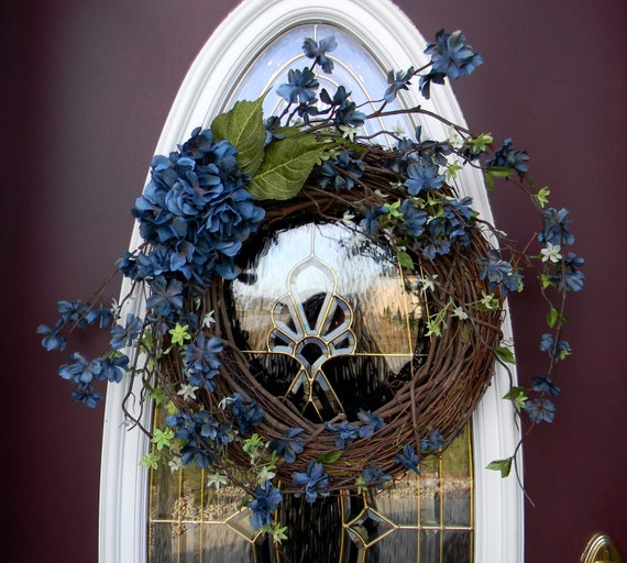"Grapevine Door Spring Wreath Decor..""Tuscan Breeze"" OOAK..Ready to Ship"
