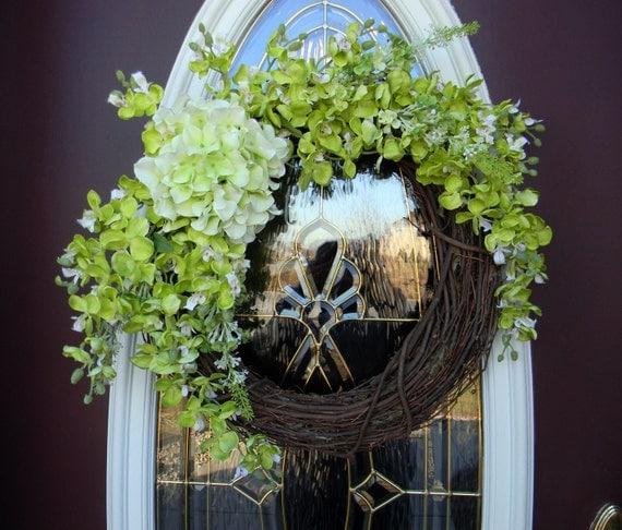 "Spring Summer Grapevine Door Wreath Decor..""Spring Inspirations"""