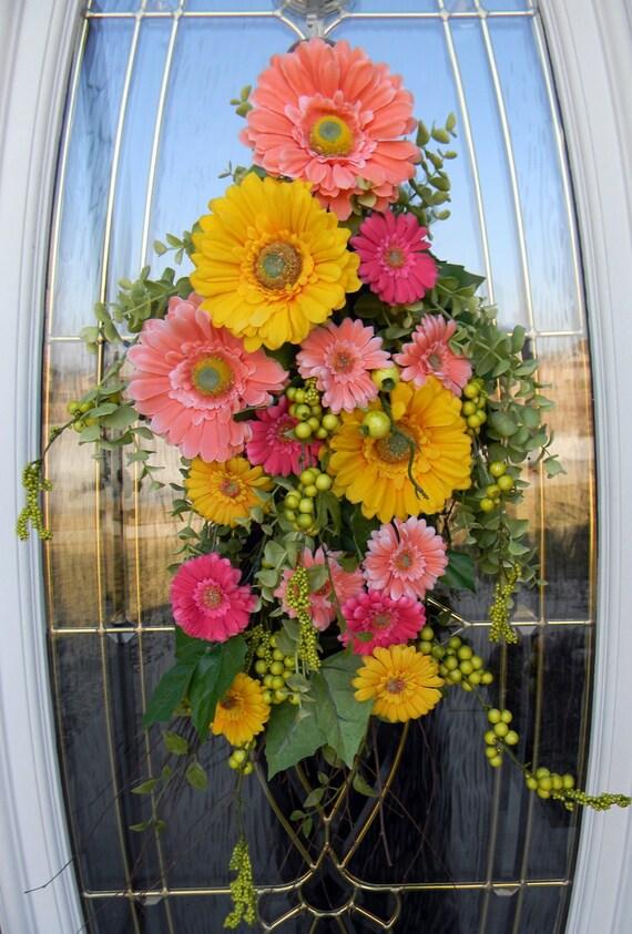 "Spring Easter Teardrop Door Swag Vertical Decor...""Springtime""..LAST ONE"