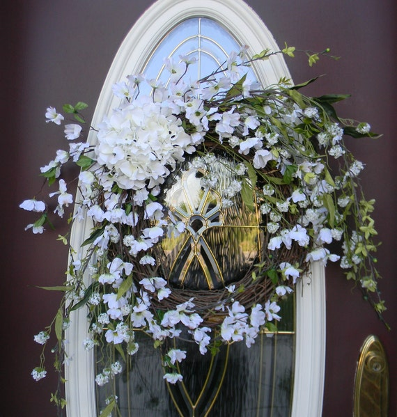 "Spring Wreath Summer Wreath Grapevine Door Wreath Decor..""Breathless"" Ready to Ship"
