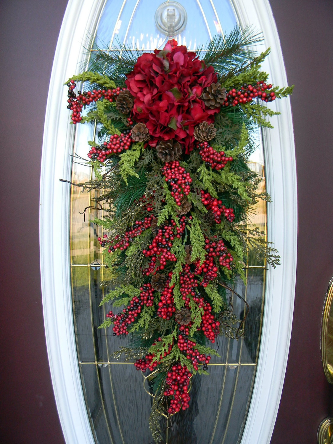Christmas Teardrop Swag Door Decor Seasons
