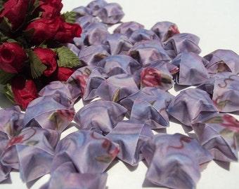 LAST SET 100 Jumbo Lilac Rose Vellum Origami Stars