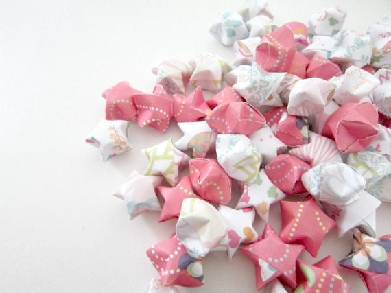 SALE 100 Coral Fun in the Sun Origami Stars