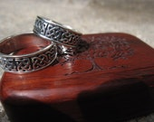 Matching pair of Sterling Silver Celtic Knot rings.