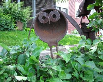 Owl in the garden