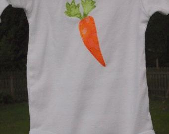 Carrot Applique Onesie
