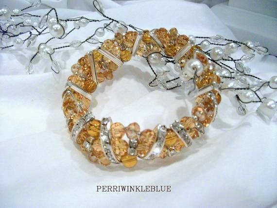 Golden Honey Crystal Bracelet
